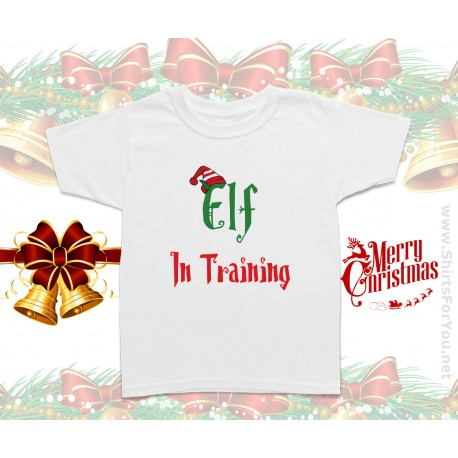 Elf in Training Christmas Kids T-Shirt