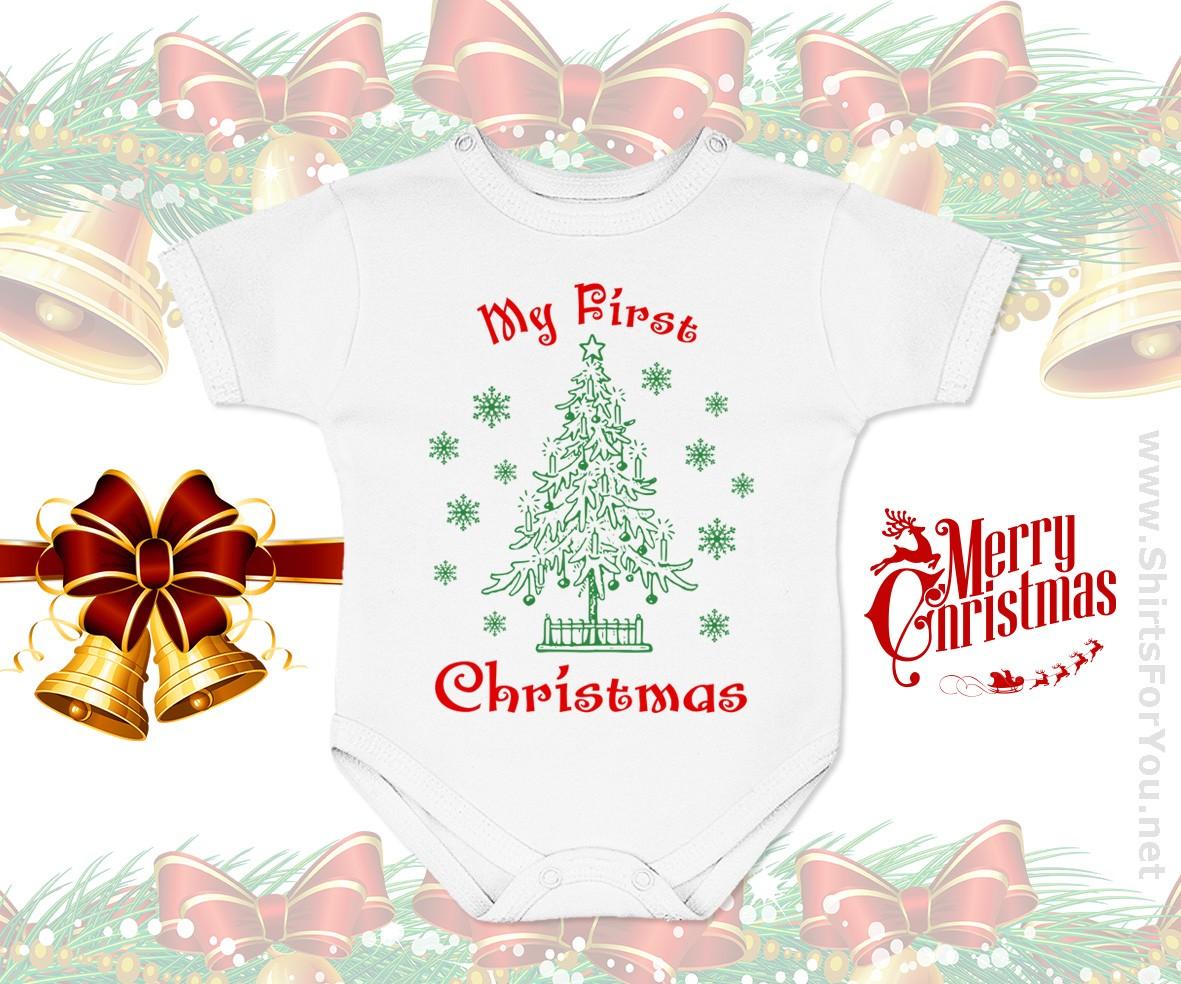 Scandinavian Christmas Gnome Personalised Baby Bodysuit My 1st Christmas Baby Boy 1st Xmas Christmas Gnome Bodysuit My First Christmas