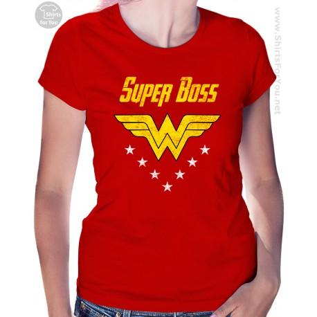 Wonder Woman Super Boss Womens T-Shirt
