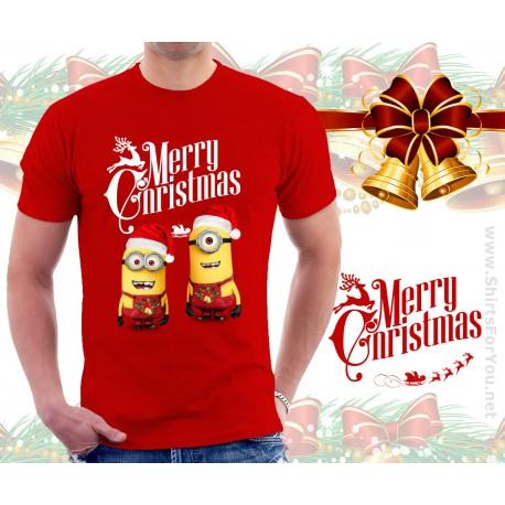 Minions Christmas.Christmas Minions T Shirt