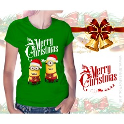 Christmas Minions Womens T Shirt