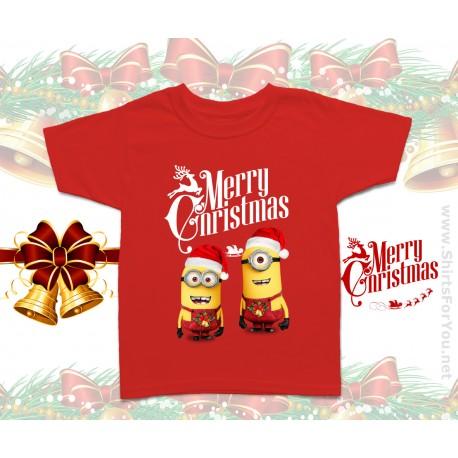 Christmas Minions Kids T Shirt