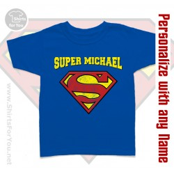 Supermen Personalized Kids T-Shirt