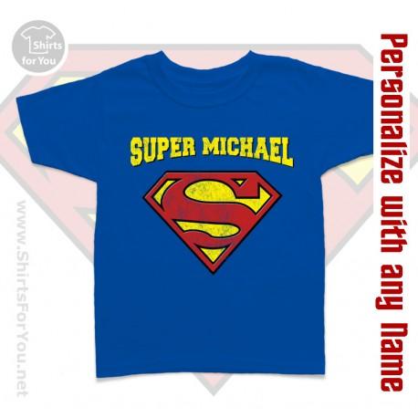 f501e7c9 Supermen Personalized Kids T-Shirt