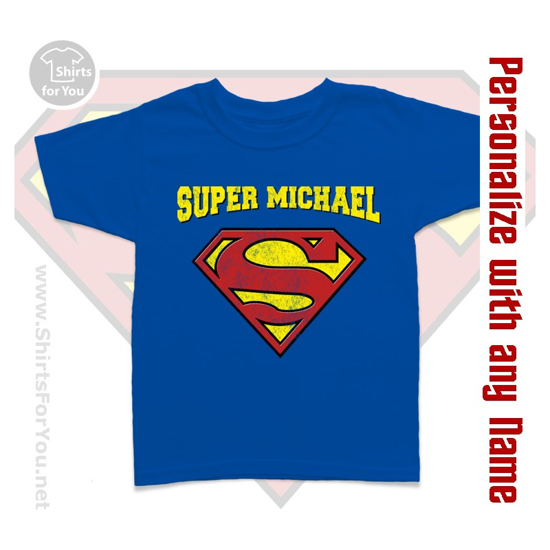 Supermen personalized kids t shirt for Toddler custom t shirts no minimum