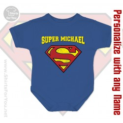 Supermen Personalized Baby Onesie