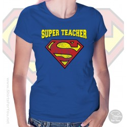Superman Super Teacher Womens T-Shirt