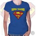 Superman Super Teacher Womens T-Shirt