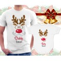 Daddy Deer and Baby Deer Matching T-Shirt and Onesie