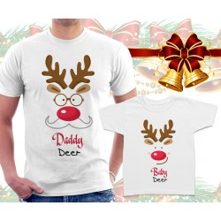 Daddy Deer and Baby Deer Matching T-Shirts