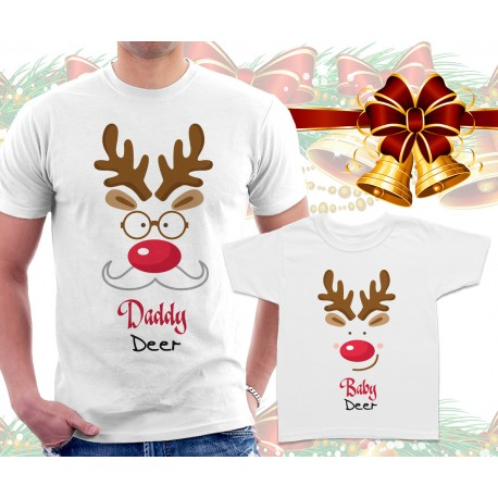 Daddy Deer and Baby Deer Matching T Shirts