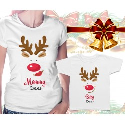 Mommy Deer and Baby Deer Matching T-Shirts