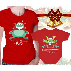 XMAS Monsters Matching Womens T-Shirt and Onesie