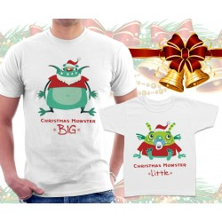 XMAS Monsters Matching T-Shirts