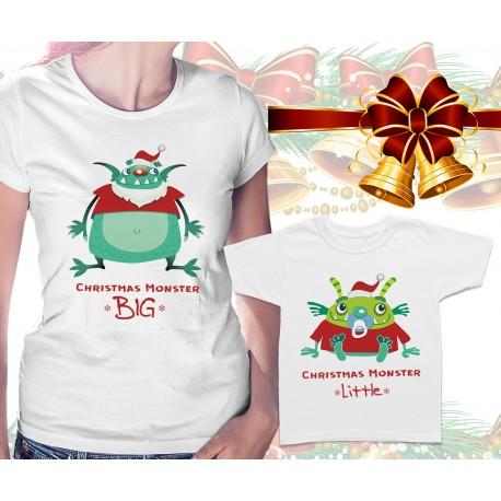 XMAS Monsters Matching T Shirts
