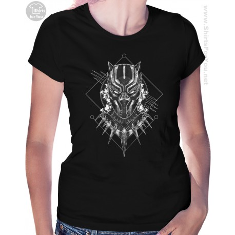 Black Panther Womens T-Shirt, Panther Power 001