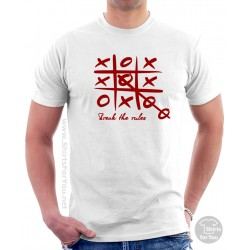 Break the Rules T Shirt, Tic Tac Toe T Shirt