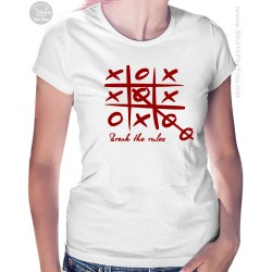Break the Rules T Shirt, Tic Tac Toe Womens T-Shirt