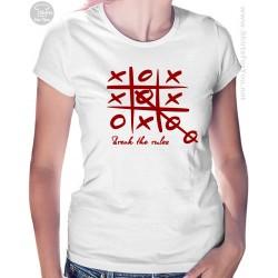 Break the Rules T Shirt, Tic Tac Toe Womens T-Shirt