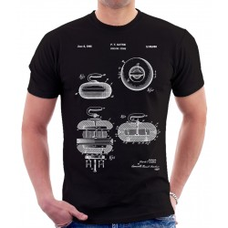 Curling Stone 1965 Patent T Shirt