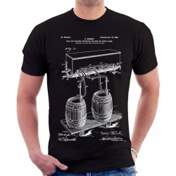 Beer Cold Air Pressure Patent T-Shirt