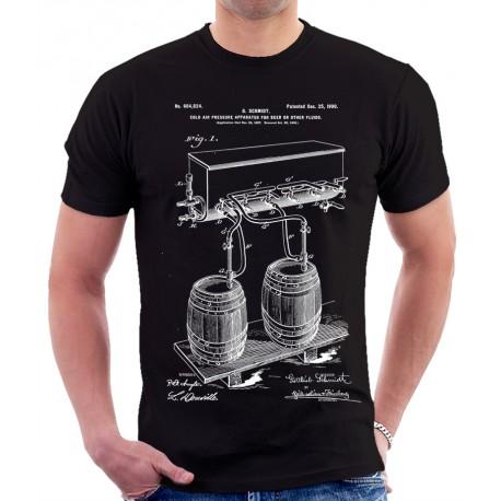 Beer Cold Air Pressure Patent T-Shirt