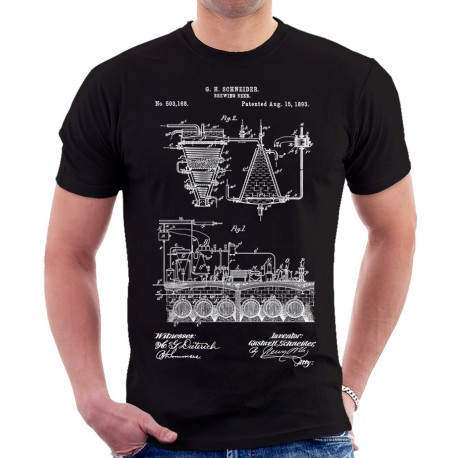 Brewing Beer 1893 Patent T-Shirt