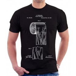 Toilet Paper Roll 1891 Patent T-Shirt
