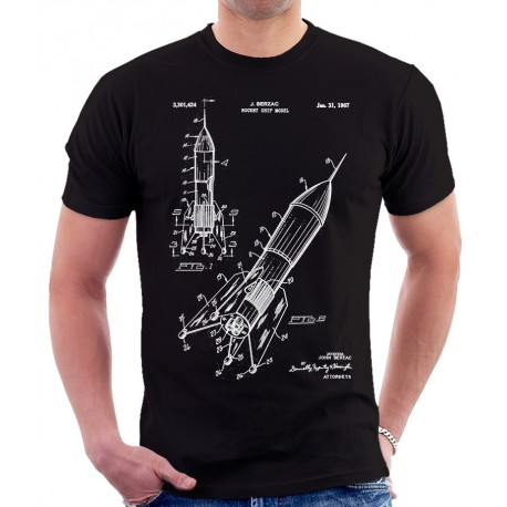 Space Rocket 1967 Patent T Shirt, Space Patent T Shirt