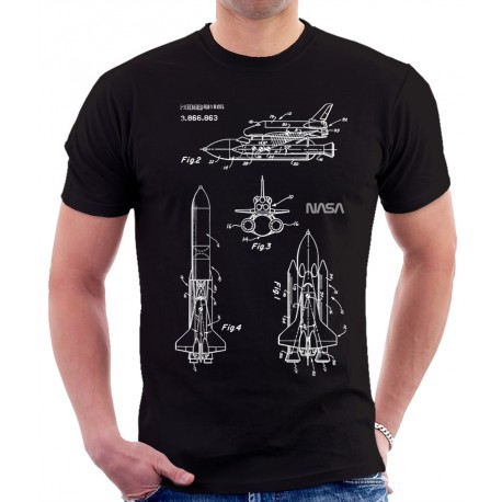 Space Shuttle 1975 Patent T Shirt, Space Patent T Shirt