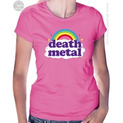 Funny Death Metal Rainbow Womens T-Shirt