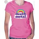 Funny Death Metal Rainbow Womens T-Shirt
