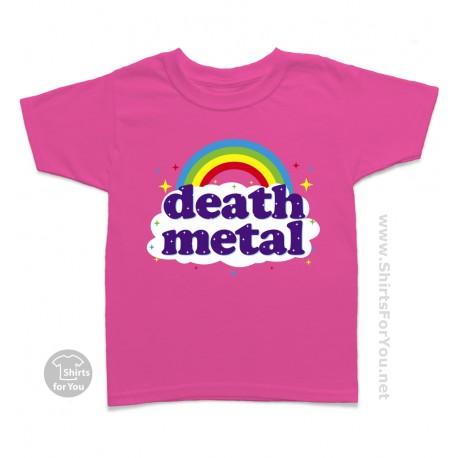 Funny Death Metal Rainbow Kids T Shirt