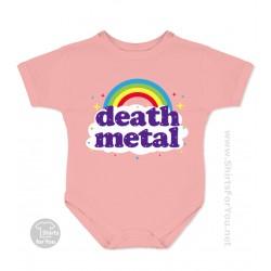 Funny Death Metal Rainbow Baby Onesie