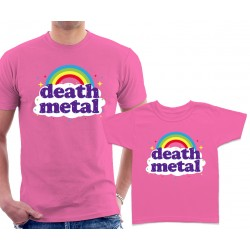 Funny Death Metal Rainbow Matching T-Shirts
