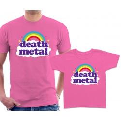 Funny Death Metal Rainbow Matching T-Shirts