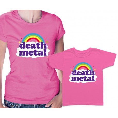 Funny Death Metal Rainbow Matching T Shirts