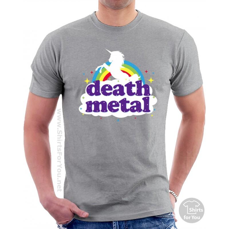 funny death metal rainbow t shirt. Black Bedroom Furniture Sets. Home Design Ideas