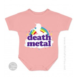 Funny Death Metal Unicorn Baby Onesie