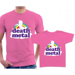 Funny Death Metal Unicorn Matching T-Shirts