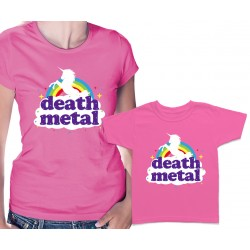 Funny Death Metal Unicorn Matching T Shirts