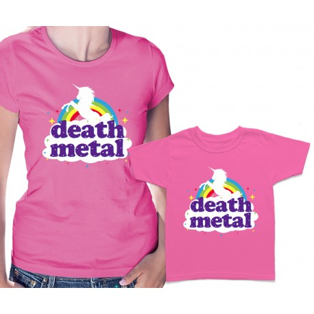 Funny Death Metal Unicorn Matching T Shirts