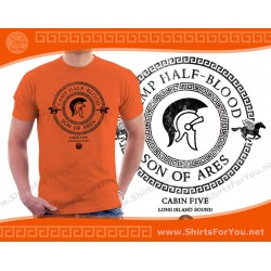 Son of Ares T Shirt, Cabin 5