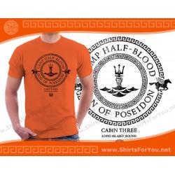 Son of Poseidon T Shirt, Cabin 3