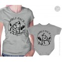 Wolf Pack Matching Matching T-Shirt and Onesie, Shewolf and Pup