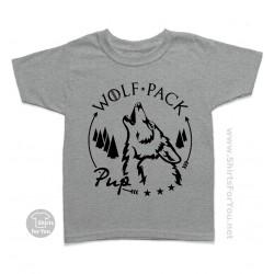Pup Walf T-Shirt. Wolf Pack Matching T-Shirts