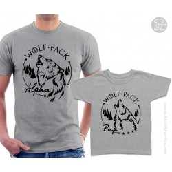 Wolf Pack Matching T-Shirts, Alpha and Pup T-Shirts