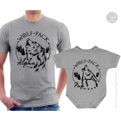 Wolf Pack Matching T-Shirts, Alpha and Pup T-Shirt and Onesie