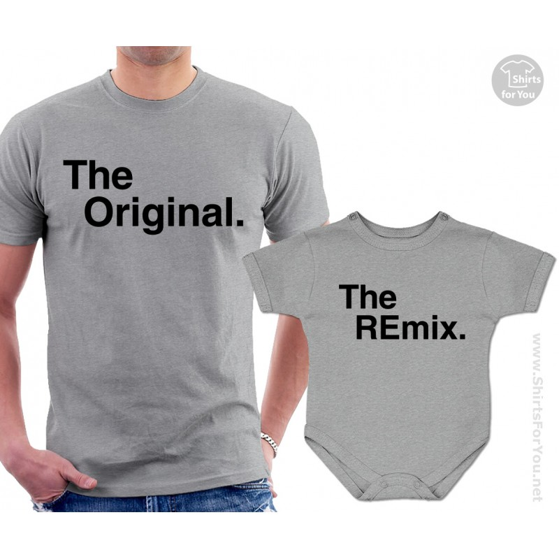 Funny Cute Daddy and Baby Matching T-Shirts Set the original-the remix