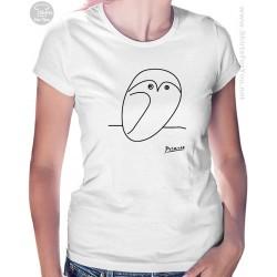 Owl Pablo Picasso Womens T Shirt